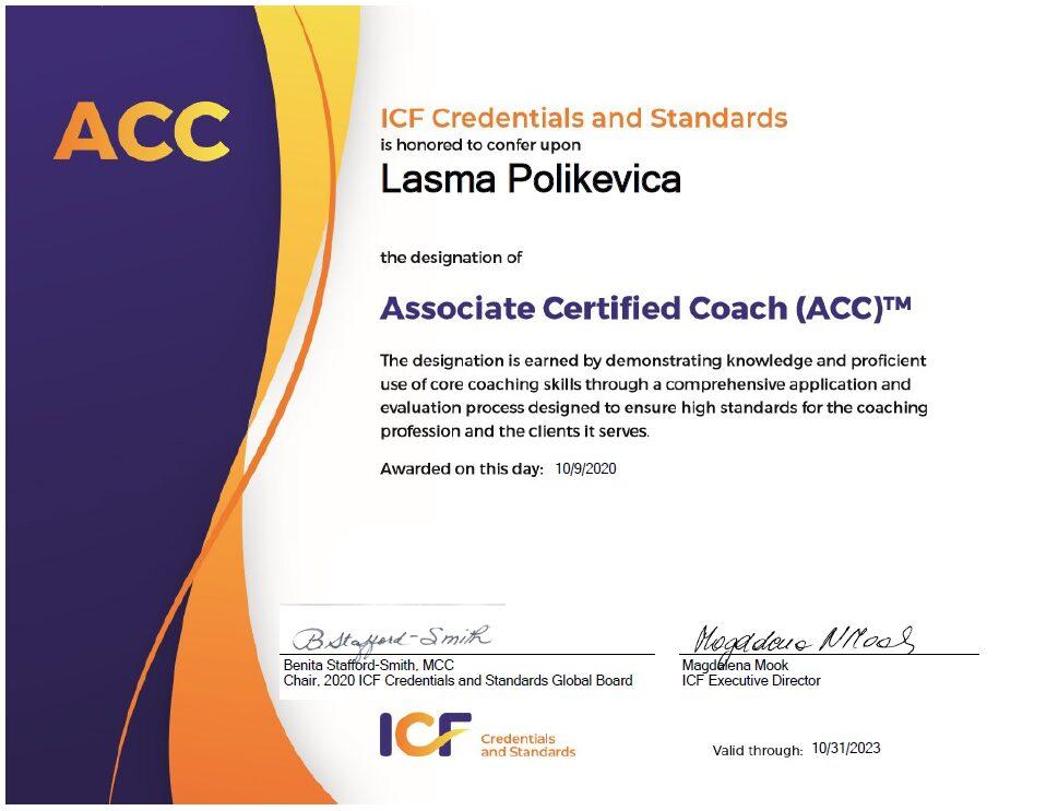 Lāsma Poļikeviča, ACC coach
