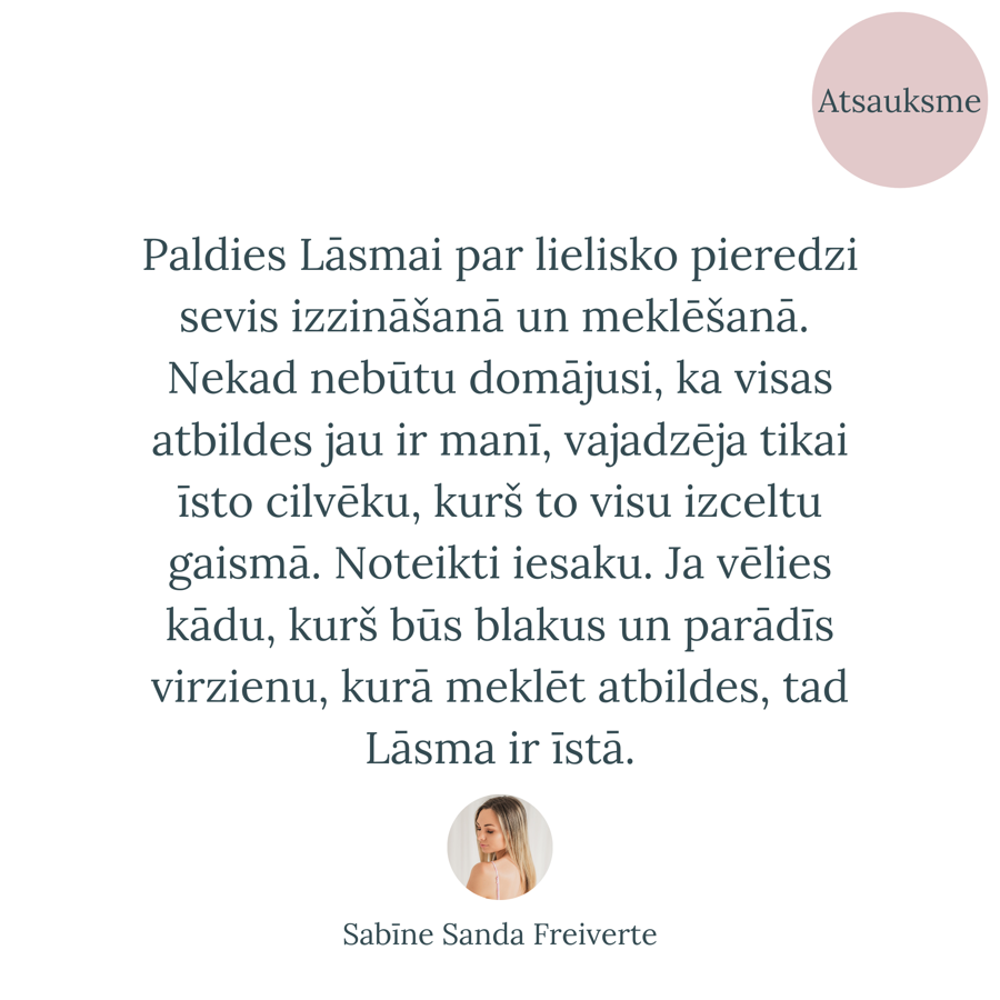 Lāsma Poļikeviča / Koučings, atsauksme